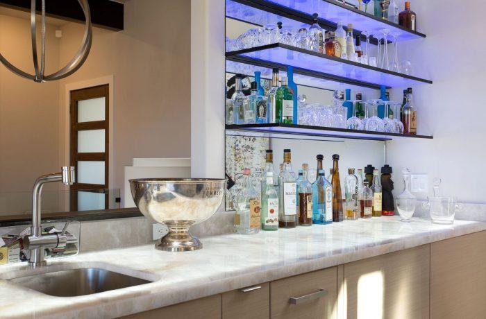 Wet Bar w/ Glass shelves