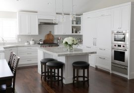 Elegant White Kitchen & Pantry