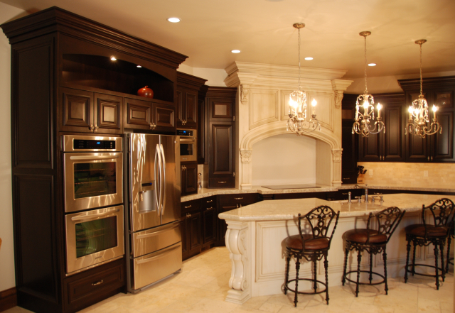 Dark & Light Alder Traditional Kitchen