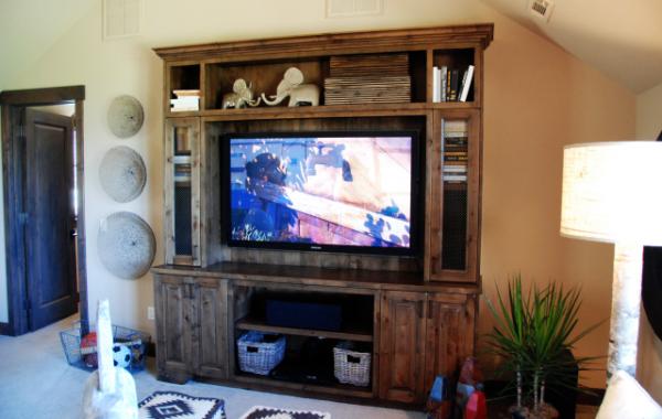 Knotty Alder TV Cabinet
