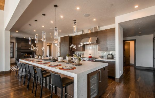 Contemporary Kitchen with a Huge Island
