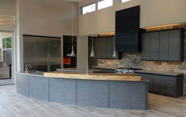 Driftwood Veneer & Stainless Steel