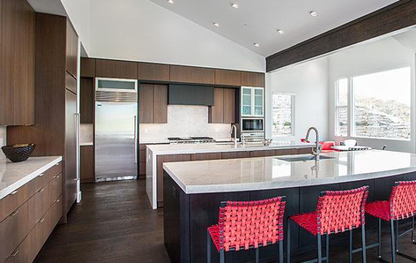 Mahogany Contemporary Kitchen